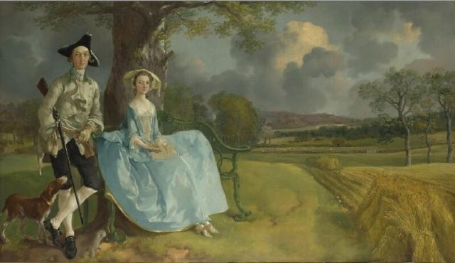 Mr. and Mrs. Andrews - Thomas Gainsborough c1750